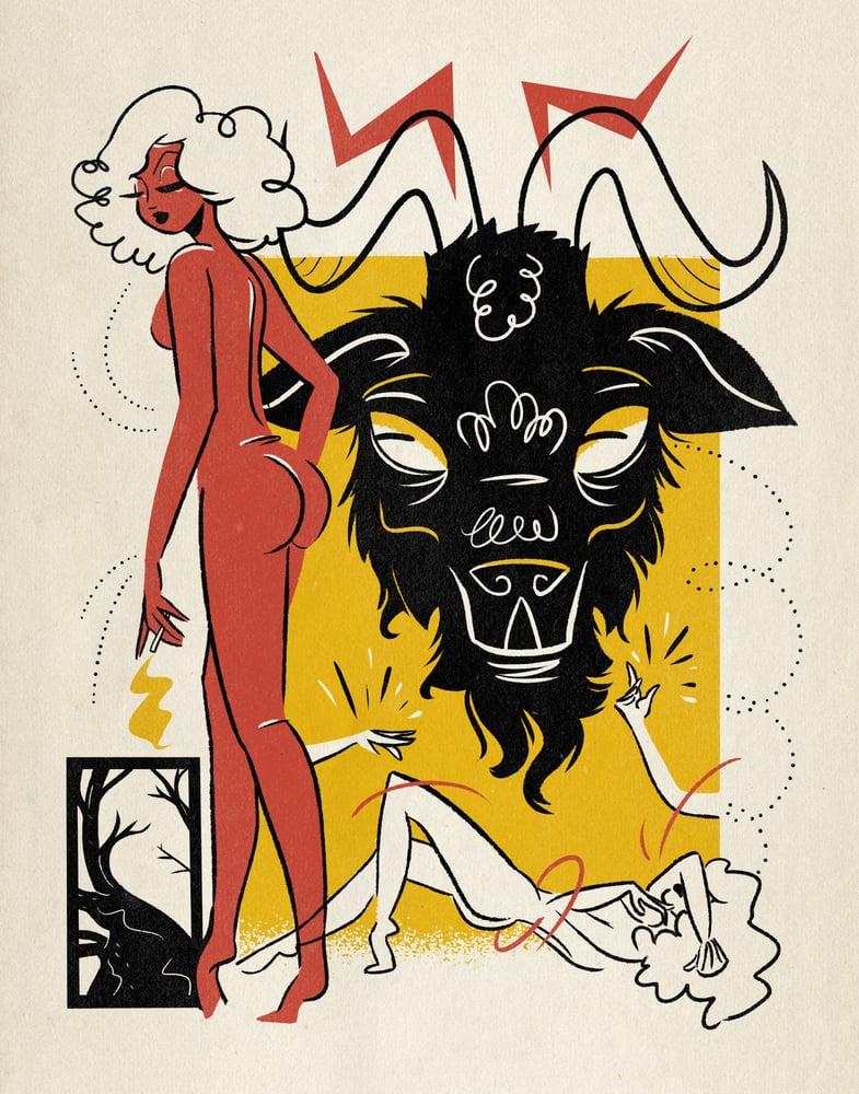Image of Smoke Break with Satan 11 x 14 Print