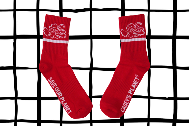 Image of Save Our Planet Socks (Red)