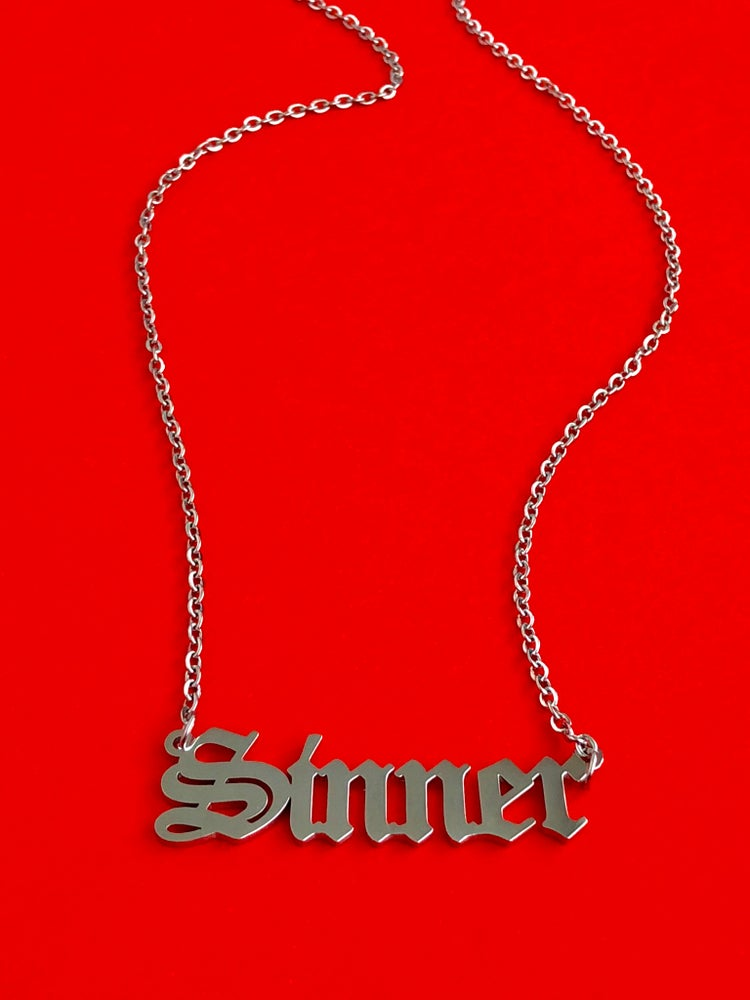 Image of SINNER OLD ENGLISH NECKLACE