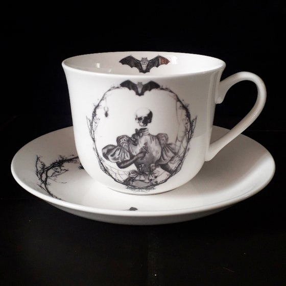 Image of Fleur teacup and saucer