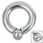 Image of Titanium Large Gauge Screw In BCR - Ball Closure Ring Prince Albert 4mm - 8mm