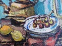 Mid-century Modern Swedish Artist 'Still life with Kettle and Fruit'