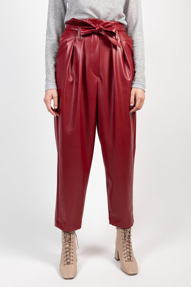 Image of PANTALONE PILLY ECOPELLE ROSSO €169 - 50%