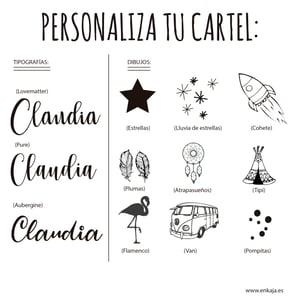 Image of Cartel redondo nombre