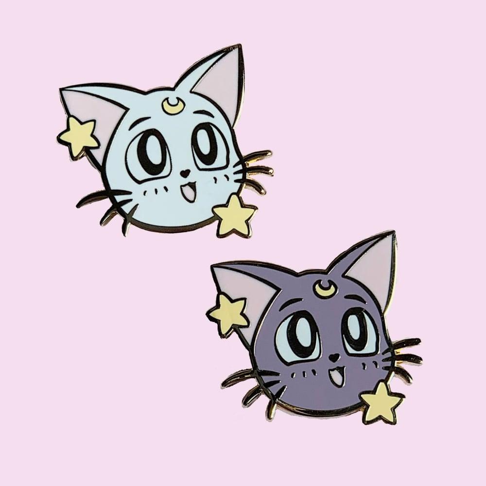 Image of Luna & Artemis heads Pins