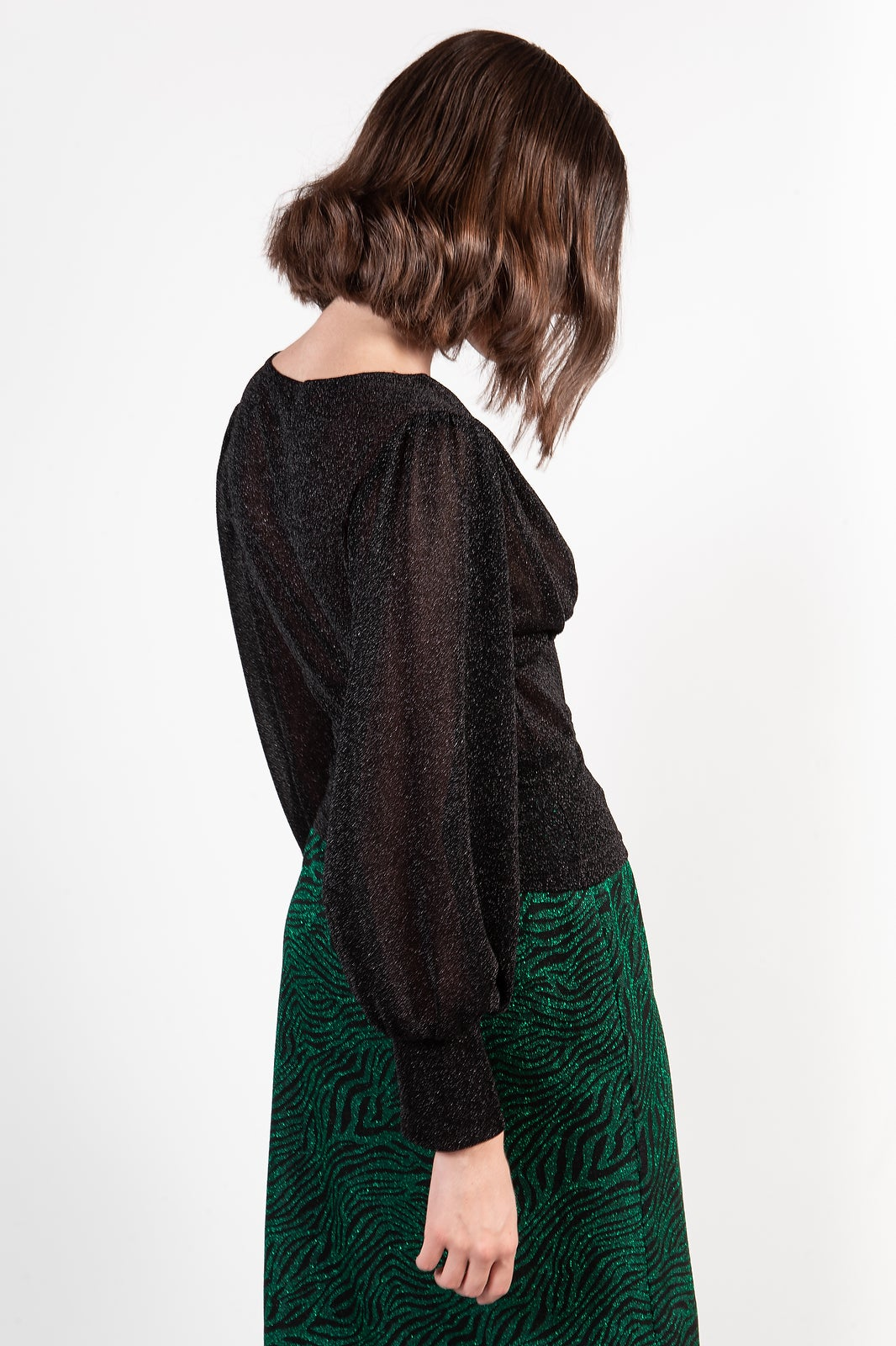 Image of MAGLIA MILLY LUREX NERO