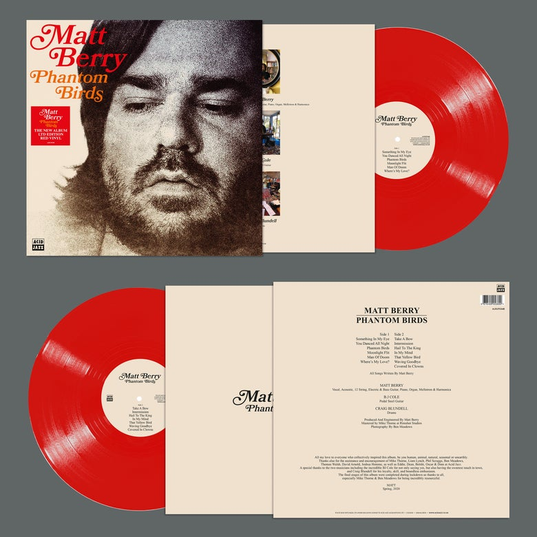 Image of Matt Berry - Phantom Birds (Red Vinyl Edition) - Unsigned