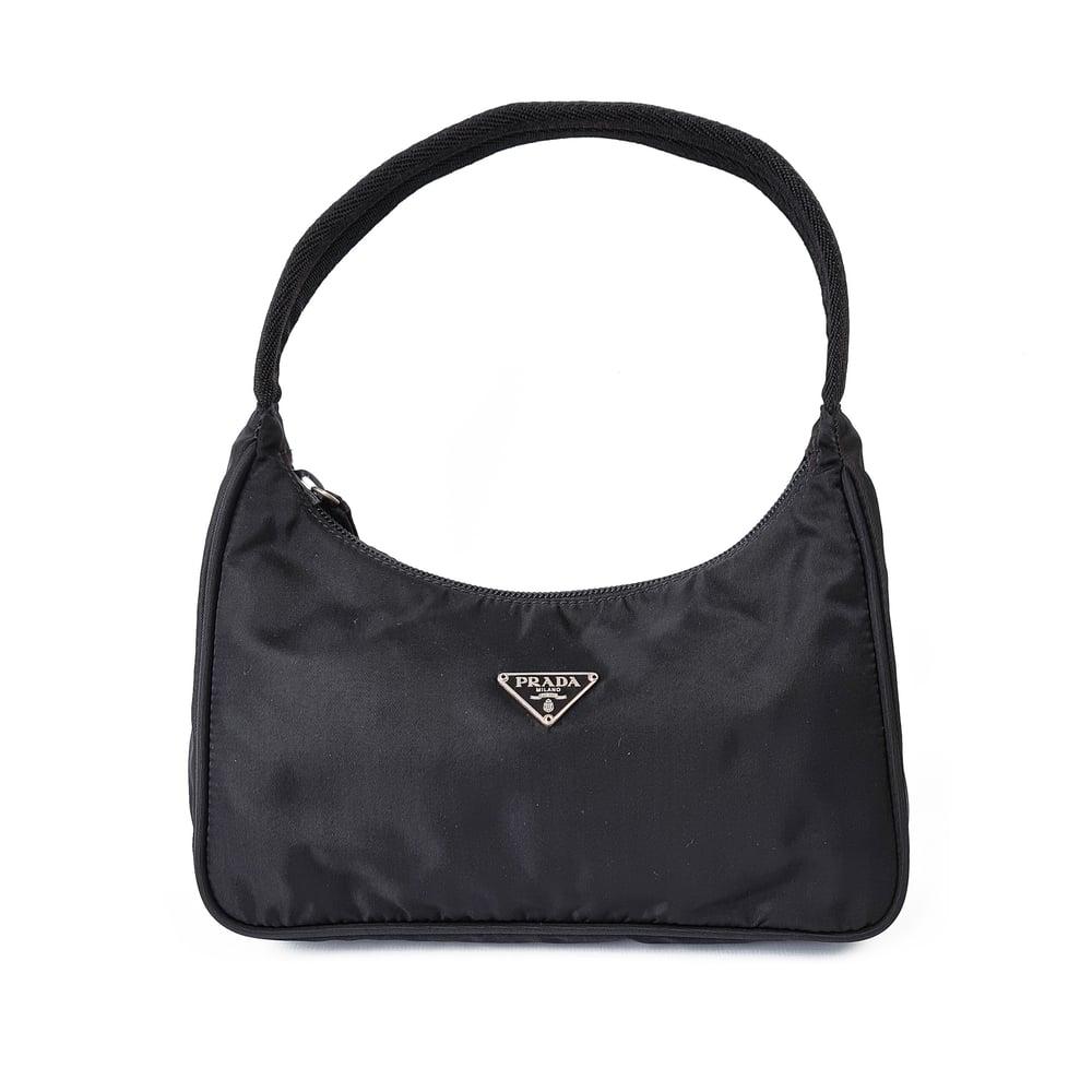 Image of Prada Nylon Mini Tessuto Shoulder Bag