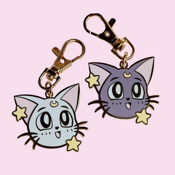 Image of Artemis & Luna Heads Keychain
