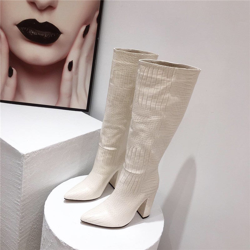 """Image of """"Snakey Bih""""  Knee-high boots"""