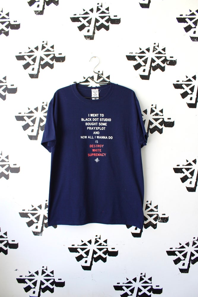 Image of now all i wanna do is tee in navy blue