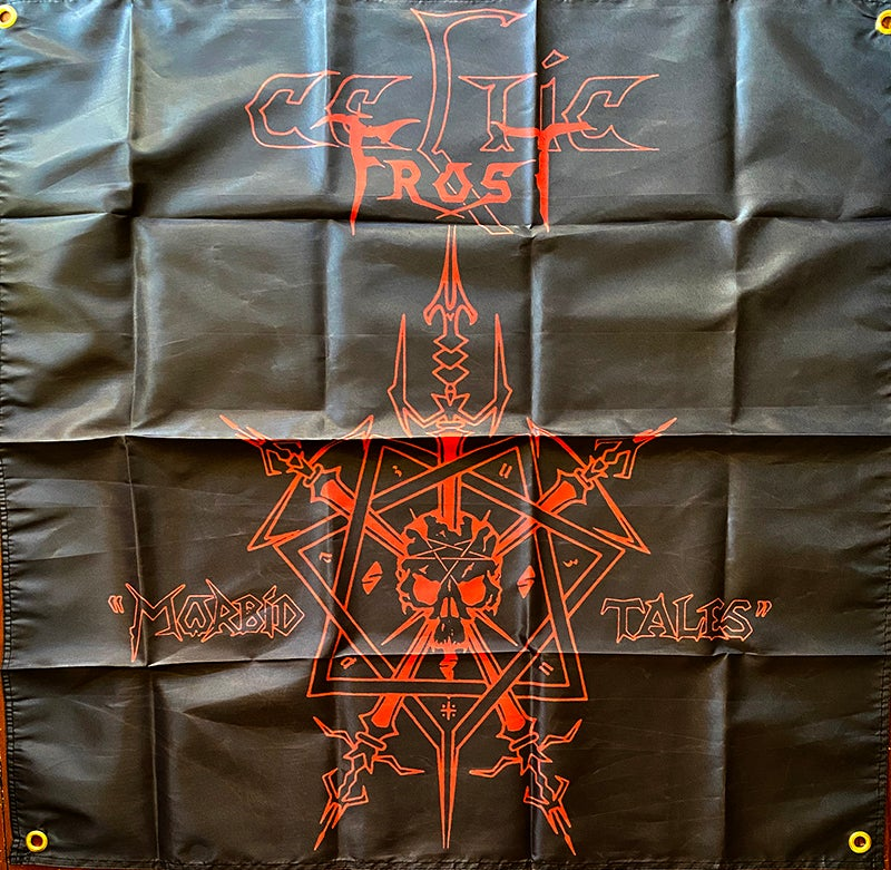 """Image of Celtic Frost """"  Morbid Tales """"   Flag / Tapestry / Banner"""