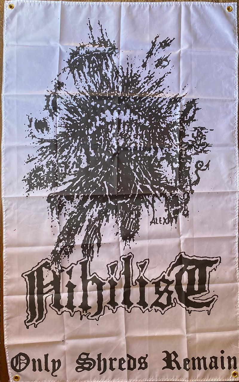 """Image of Nihilist """" Only Shreds Remain """"  Banner /  Flag / Tapestry"""