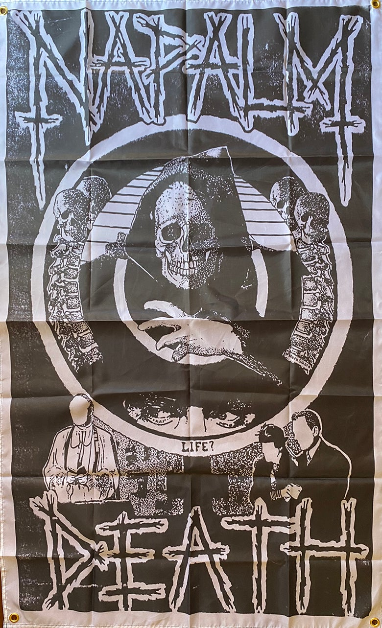 "Image of Napalm Death "" Life "" Flag / Banner / Tapestry"