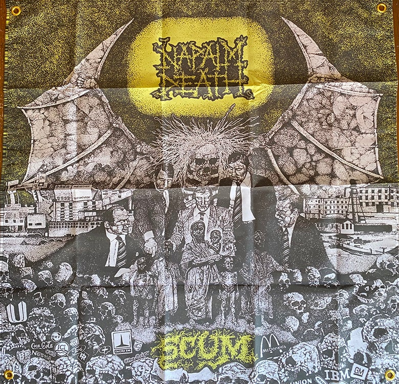 "Image of Napalm Death "" Scum "" Flag"