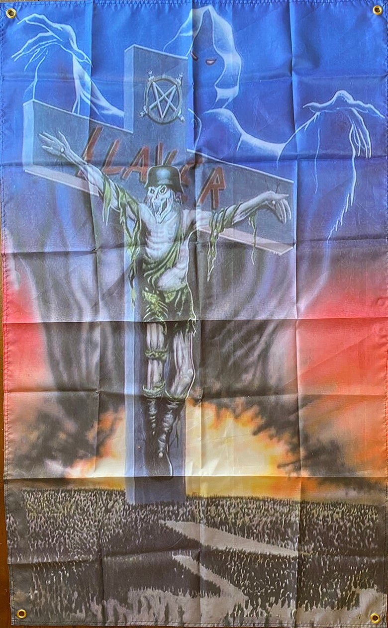 "Image of Slayer "" Slaytanic Cross "" Flag / Banner / Tapestry"