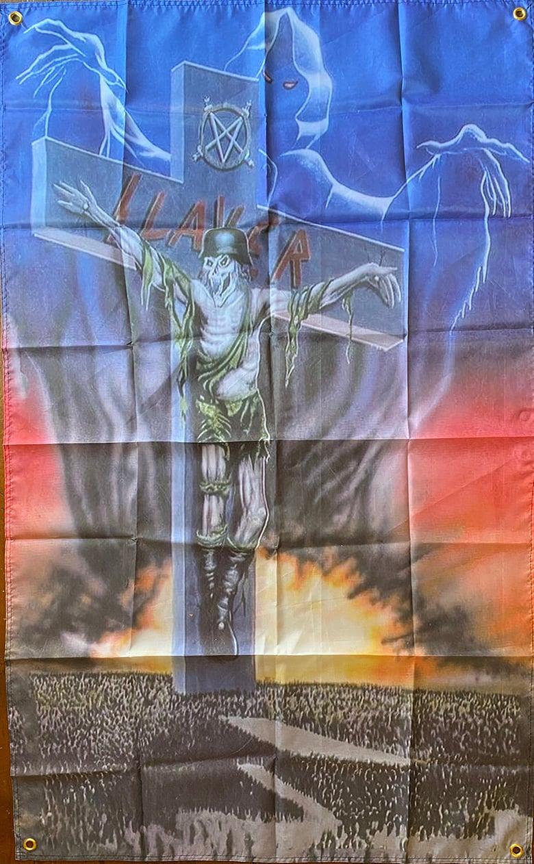 """Image of Slayer """" Slaytanic Cross """" Flag / Banner / Tapestry"""
