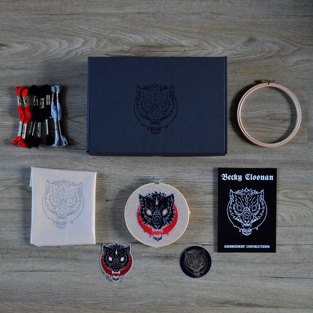 Image of WOLFMOON - Becky Cloonan *Embroidery Kit*