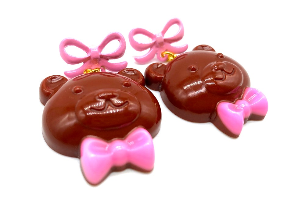 Image of Valentines Chocolate Bear earrings