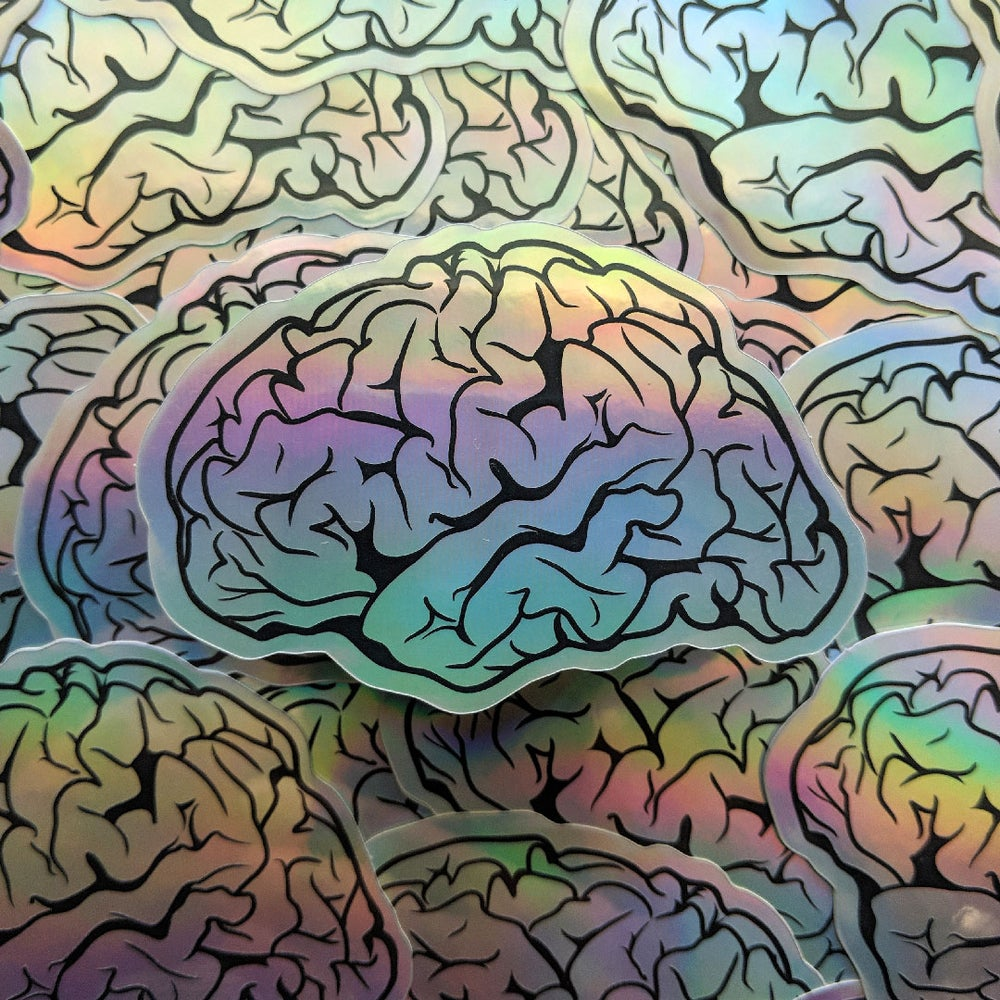 Image of Brain Vibes Holographic Sticker