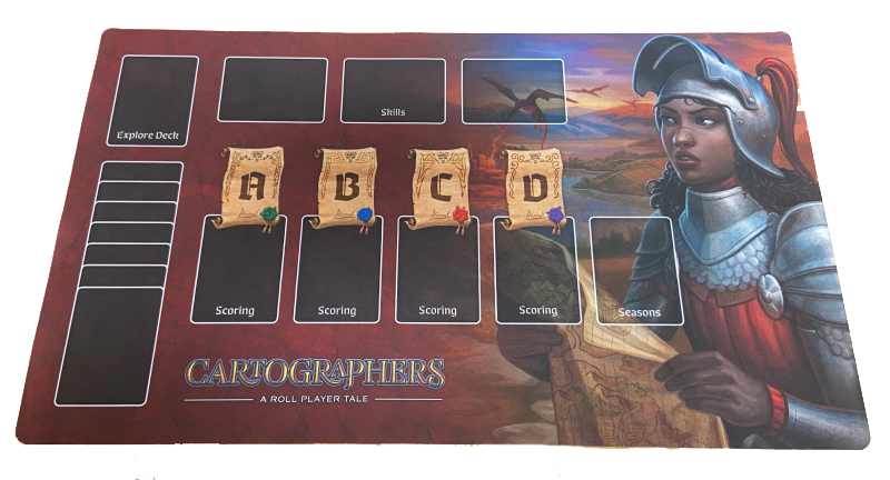 Image of Cartographers Playmat (RED)