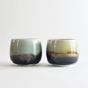 Image of set of 2 porcelain tea bowls