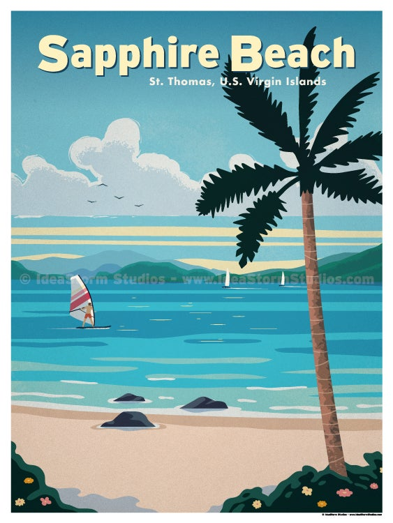 Image of Sapphire Beach Poster