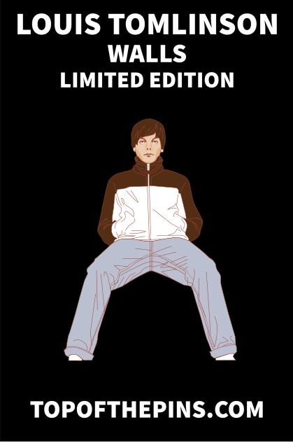Louis Tomlinson - Walls Limited Edition Pin Badge