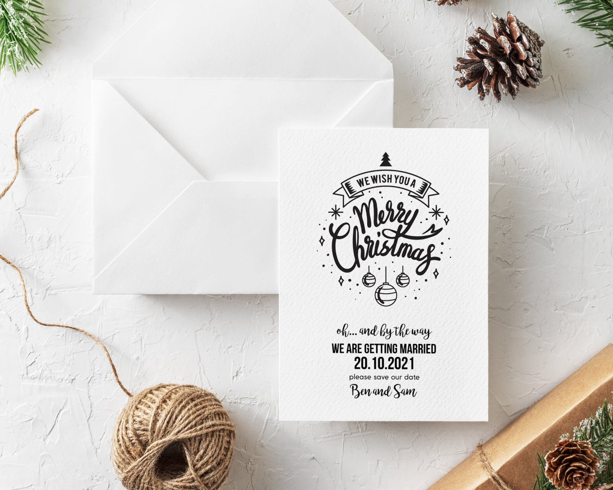Christmas Card Save the Dates