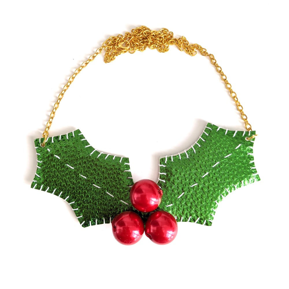 Image of Shiny Holly Berry Necklace