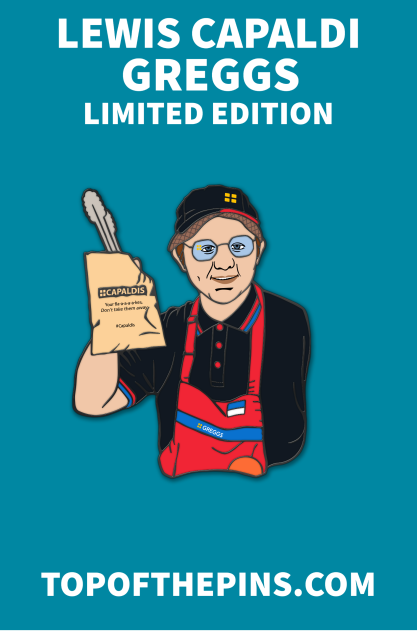 Lewis Capaldi - Greggs  Limited Edition Pin Badge