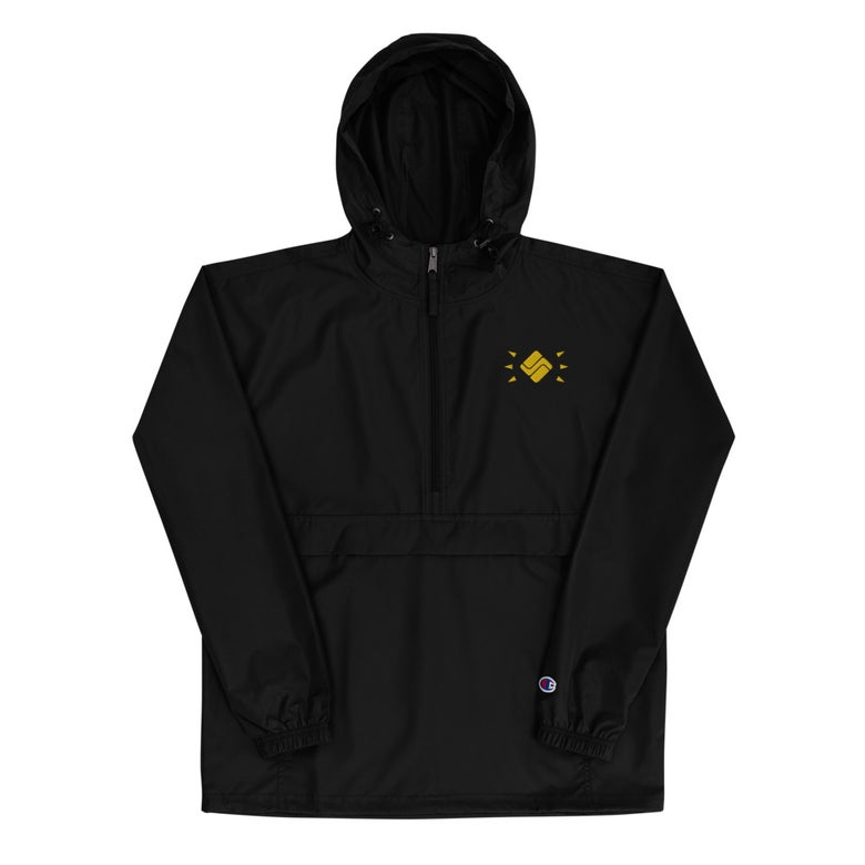 Image of Embroidered Hooded Windbreaker