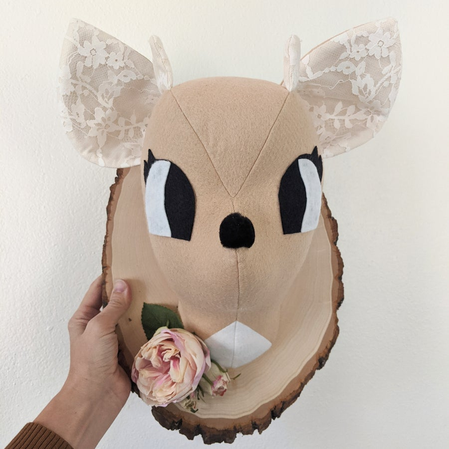 Image of Jumbo Deer Head + Flowers
