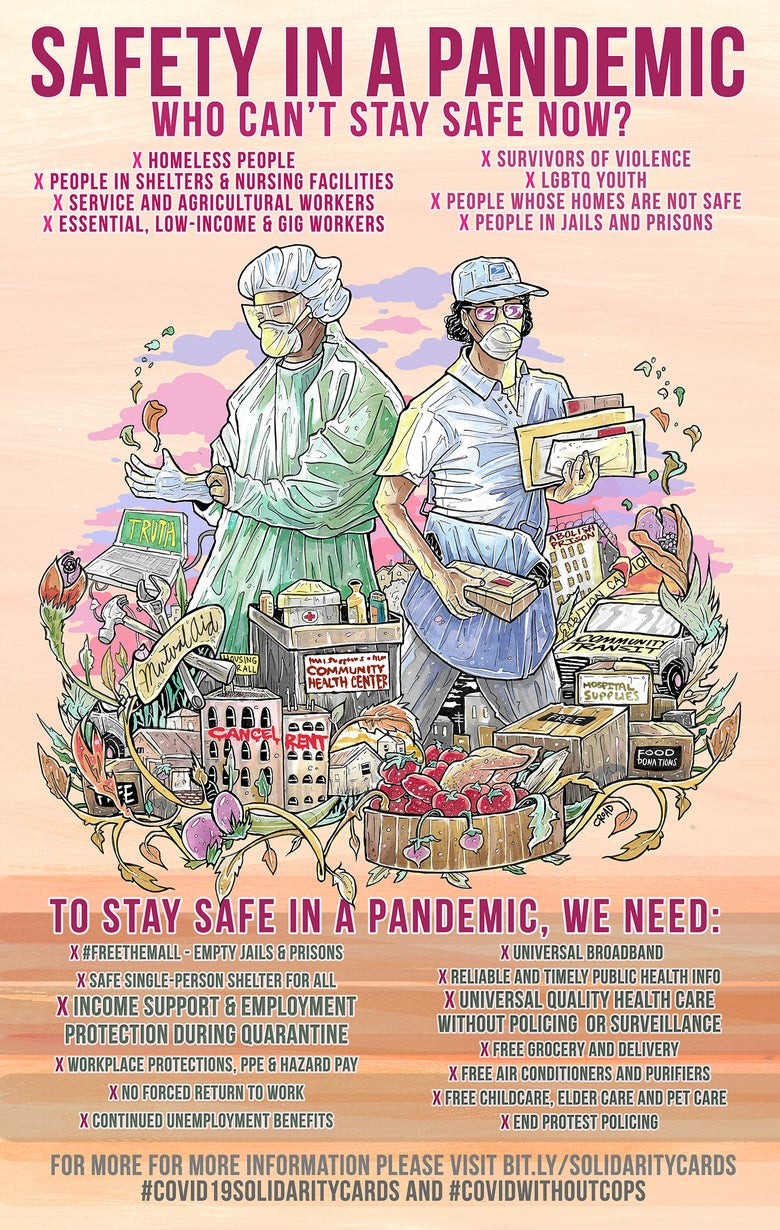 Image of SAFETY IN A PANDEMIC POSTER SERIES: Who Cant Stay Safe Now?