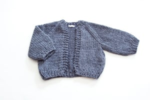 Image of Perth Cardigan  (shown Ochre, Denim, & Fawn) more colours