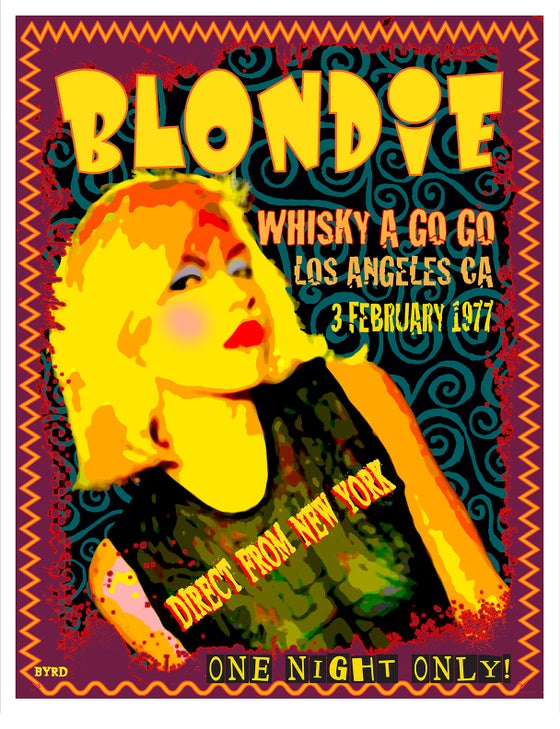Image of BLONDIE at the Whiskey a Go Go 3 February 1977