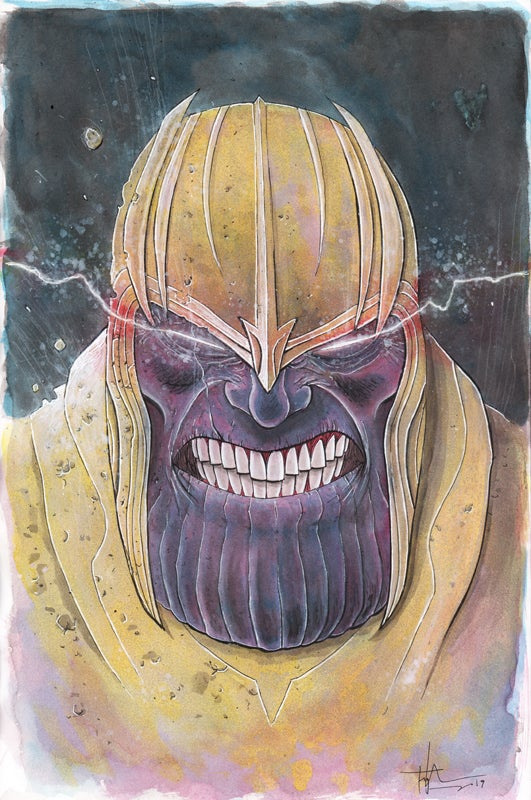 Image of THANOS 11x17 PAINTING