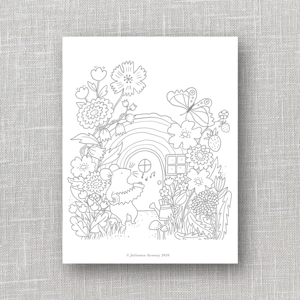 Image of Mouse House Coloring Page