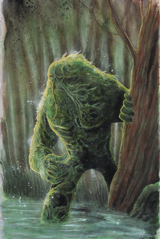 Image of SWAMP THING 11x17 PAINTING