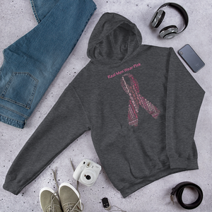 Image of Real Men Wear Pink Breast Cancer Hoodie in Black and Charcoal