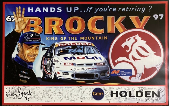 Image of BROCKY - Bathurst 1997 King of the Mountain poster. Holden. HRT