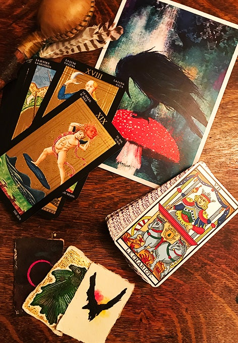Tarot Voucher. On-line Tarot Reading Gift Package with Card and Printed Voucher  (60 minutes).