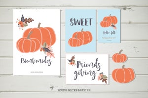 Image of Pack imprimible calabazas de otoño