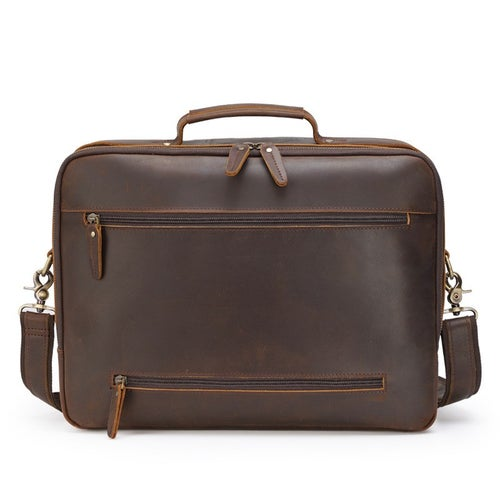 Image of Handmade Full Grain Leather Briefcase, 15.6'' Laptop Bag, Business Handbag CN1488