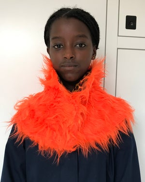 Image of COLLAR-SCARVE orange reversible fall/winter 2020-2021
