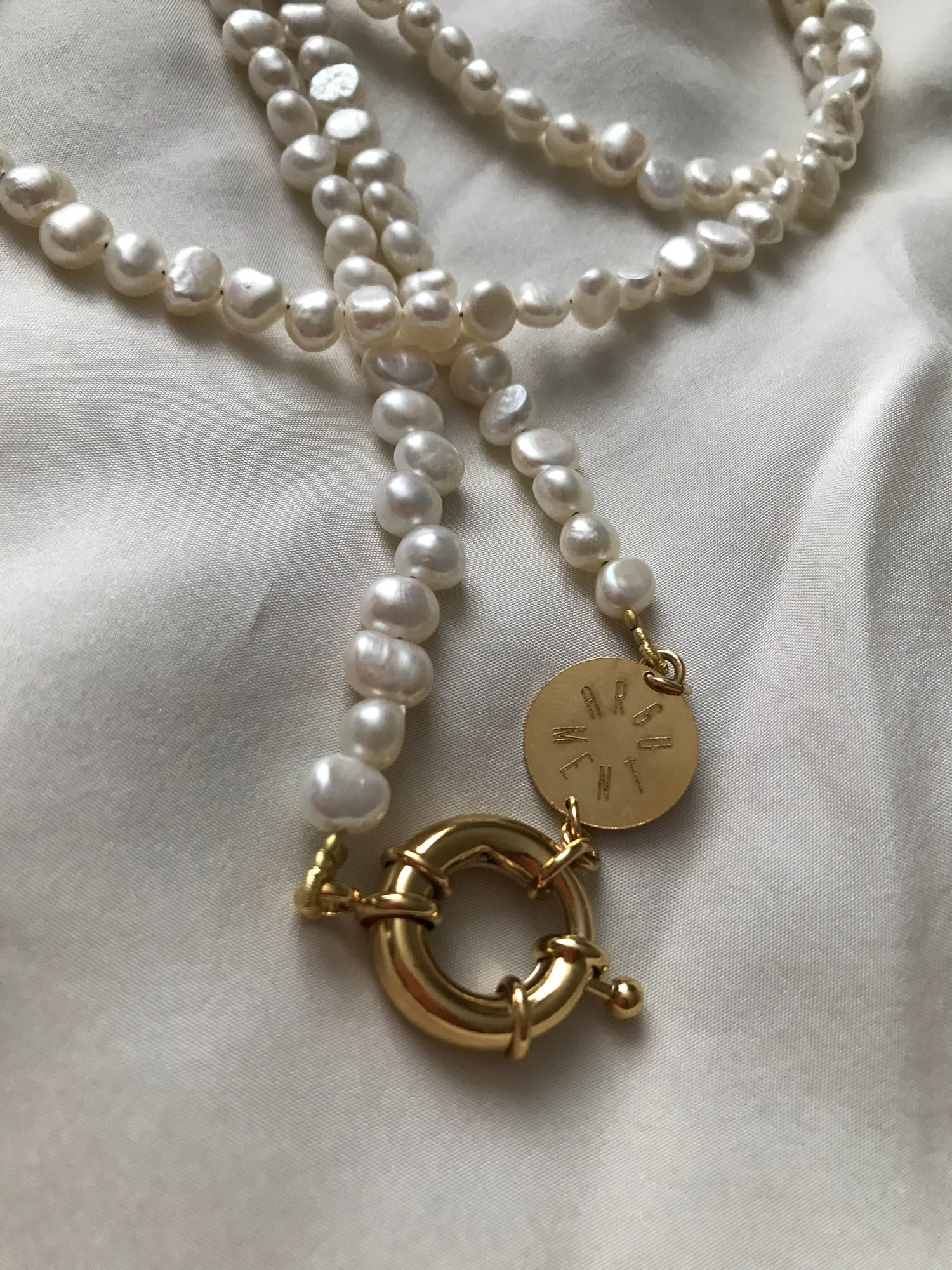 Image of COLLIER COURT perles de nacre