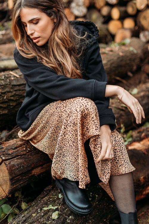 Image of JUPE AUDREY - CAMEL LEOPARD