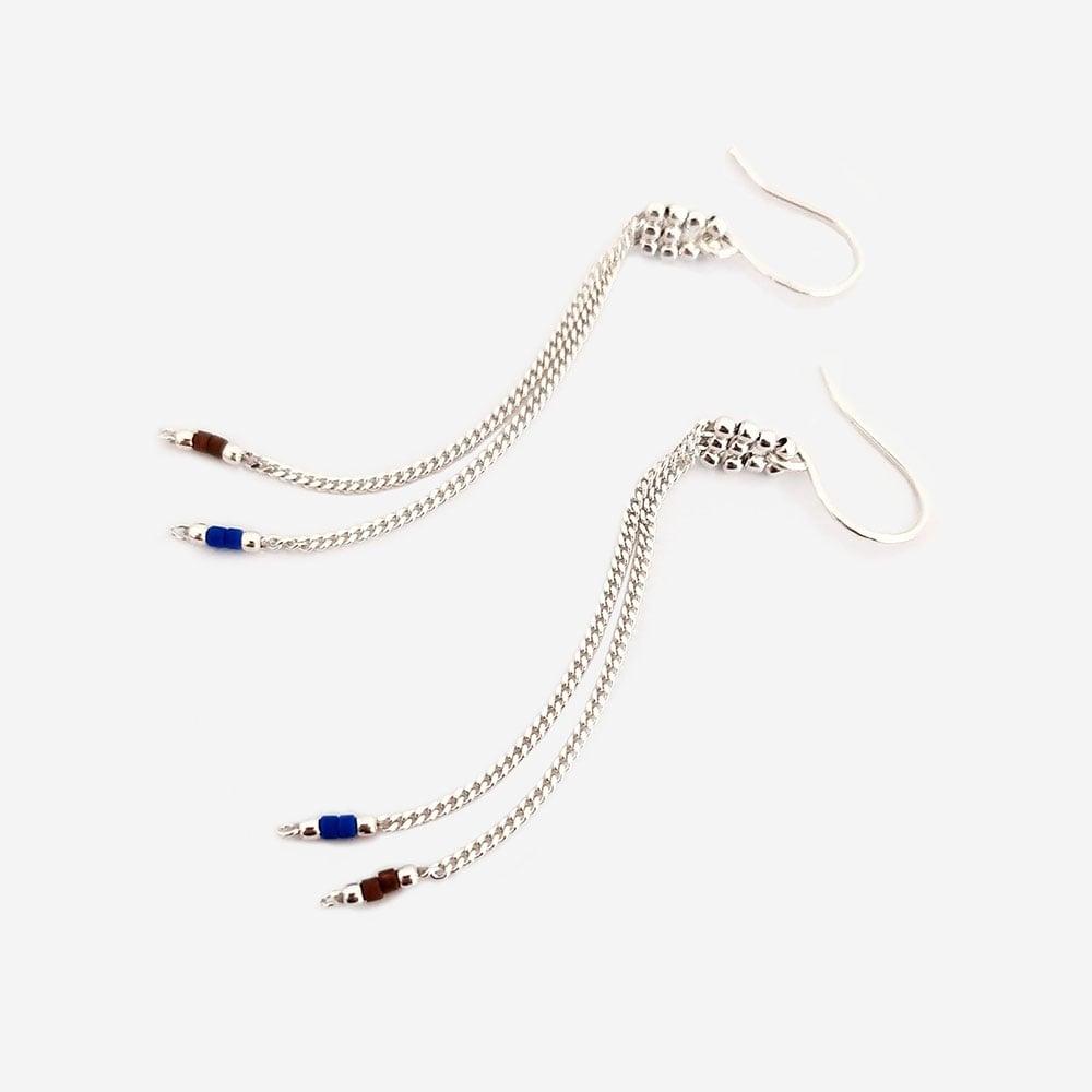 """Image of Boucles d'oreilles chaines pendantes """"Kolla"""""""