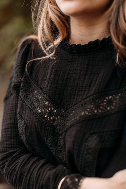 Image of BLOUSE LIVIA - NOIR