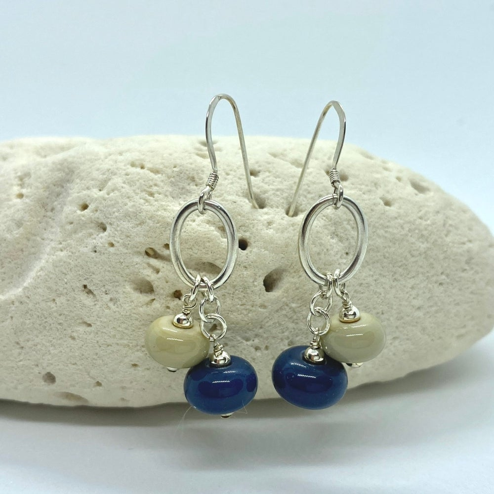 Image of Denim Double Earrings
